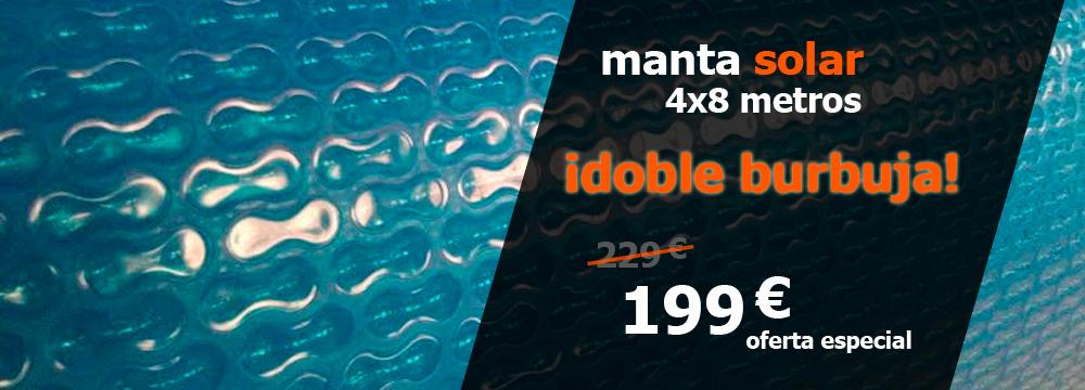 promo manta solar doble burbuja